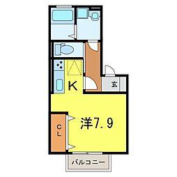 仮) D-room今池町[102号室]の間取り