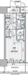 JR大阪環状線 福島駅 徒歩7分の賃貸マンション 11階1Kの間取り