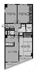東京都町田市木曽東4丁目の賃貸マンションの間取り