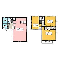 [一戸建] 三重県四日市市別山3丁目 の賃貸【/】の間取り