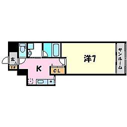 フローレンス西宮3[2階]の間取り