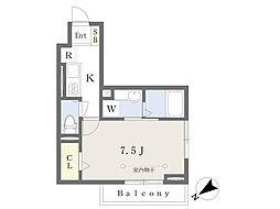 JR総武線 東船橋駅 徒歩7分の賃貸アパート 2階1Kの間取り