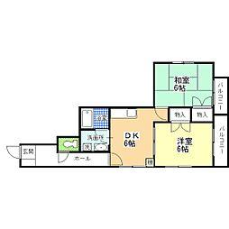 東京都葛飾区柴又5丁目の賃貸マンションの間取り