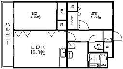 新潟県新潟市江南区諏訪1丁目の賃貸マンションの間取り