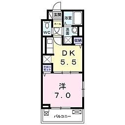 神奈川県大和市中央林間西4丁目の賃貸アパートの間取り