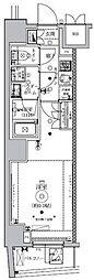 東京メトロ南北線 東大前駅 徒歩5分の賃貸マンション 4階1Kの間取り
