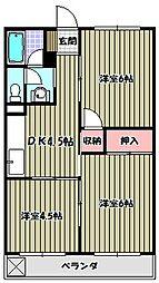 椋本マンション[1階]の間取り