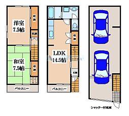 [一戸建] 大阪府東大阪市加納2丁目 の賃貸【/】の間取り