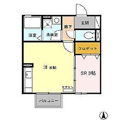 Maison Glycine[2階]の間取り