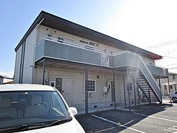 山梨県中巨摩郡昭和町西条の賃貸アパートの外観