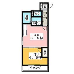 クレストール市名坂[1階]の間取り