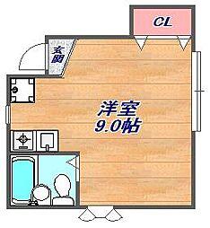 兵庫県神戸市東灘区御影本町7丁目の賃貸アパートの間取り