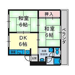 メゾン津之江[4階]の間取り