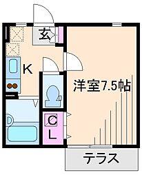 神奈川県横浜市港北区高田東4の賃貸アパートの間取り