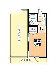 ステーションヴィラ鶴ヶ島[419号室]の間取り