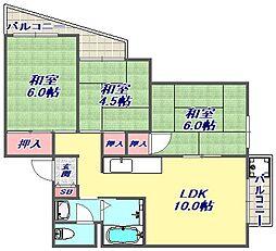 リノディア芦屋[107号室]の間取り