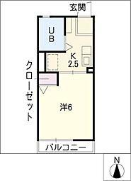 グランパスII[2階]の間取り