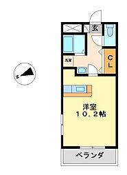 イエローシダー金山[5階]の間取り