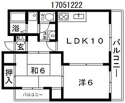 グランドフォーム細田[6階]の間取り