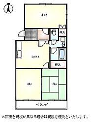 パ−ルマンション[303号室]の間取り
