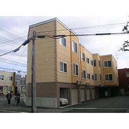 北海道札幌市北区篠路2条3丁目の賃貸アパートの外観