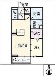 キートスマルカ B棟[2階]の間取り