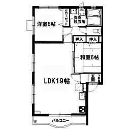 神奈川県座間市ひばりが丘2丁目の賃貸マンションの間取り