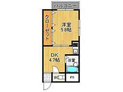 森田マンション[3階]の間取り