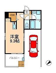 千葉県松戸市東松戸2丁目の賃貸マンションの間取り