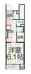 東京都足立区梅田3丁目の賃貸アパートの間取り