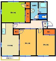 MASTリブウェル六高C202号室[202号室]の間取り
