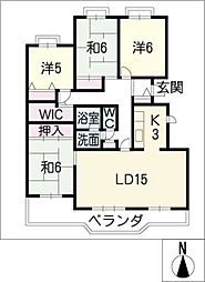 コーポ田神E棟506号[5階]の間取り
