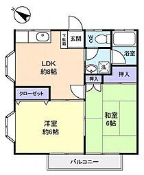 L・ランド[2階]の間取り