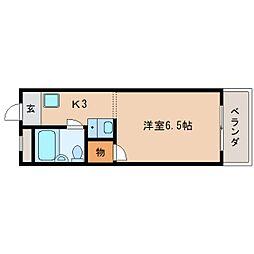 奈良県生駒市山崎新町の賃貸マンションの間取り