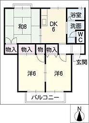 フローレンスFUJIGAOKA[2階]の間取り