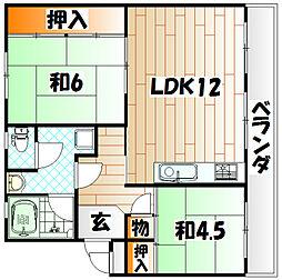 アブニール篠崎第一ビル[2階]の間取り