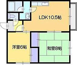 アカシヤマンション[1階]の間取り