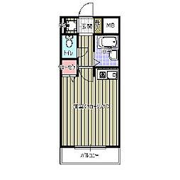 日野山第五ビル[5階]の間取り