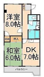 FKマンション[401号室]の間取り