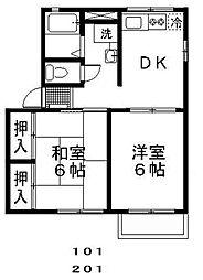 ハッピーホーム[1階]の間取り