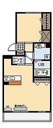 ベルヴューA棟[2階]の間取り