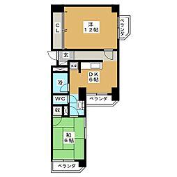 鹿野リハイム[4階]の間取り
