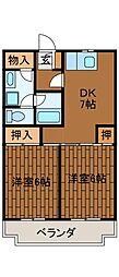 サンシャイン矢部[3階]の間取り