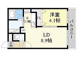 JR千歳線 千歳駅 徒歩7分の賃貸マンション 3階1LDKの間取り