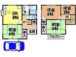 [一戸建] 愛媛県松山市星岡4丁目 の賃貸【愛媛県 / 松山市】の間取り
