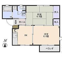 東京都世田谷区船橋1丁目の賃貸アパートの間取り