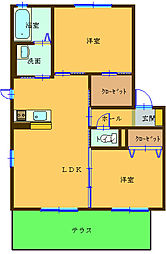 和歌山県和歌山市和田の賃貸アパートの間取り