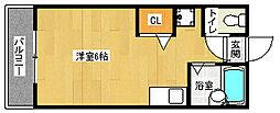 京都府京都市上京区一条殿町の賃貸アパートの間取り