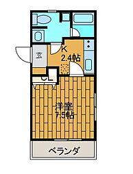 フェアリーメイト・F[1階]の間取り