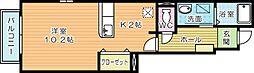 ヴィラ−ジュY・F B[1階]の間取り